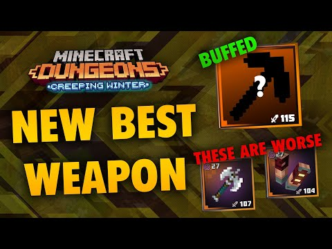 The NEW Best Weapon in Minecraft Dungeons: Creeping Winter DLC (VERY STRONG!!)