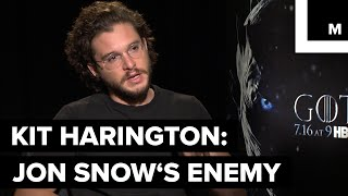 Kit Harington talks about the evolution of the 'Game of Thrones' characters and relationships in Game of Thrones, and specifically ...