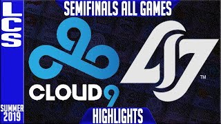 Video C9 vs CLG Highlights ALL GAMES | LCS Summer 2019 Playoffs Semifinals | Cloud9 v Counter Logic Gaming MP3, 3GP, MP4, WEBM, AVI, FLV Agustus 2019