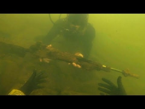 Found Assault Rifle Underwater in River While Scuba Diving! (Police Called)_Diving. Best of all time