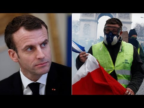 Gilets Jaunes: Emmanuel Macron speaks at Elysee Palace