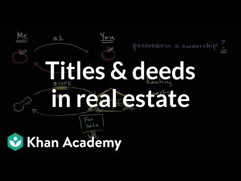 Titles And Deeds In Real Estate Video Khan Academy