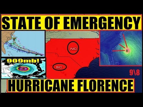 9pm Curfew Sanford NC State of Emergency Hurricane Florence