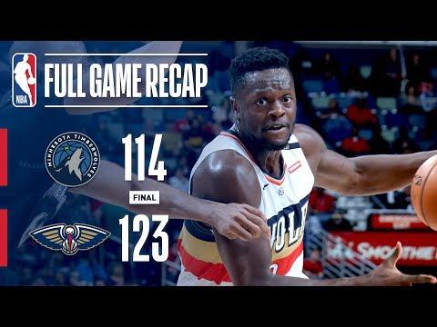 Video: Full Game Recap: Timberwolves vs Pelicans | Randle Leads NOP To Victory