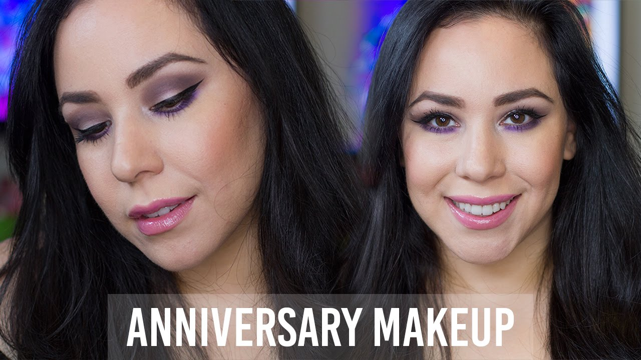 GRWM | Full Face Anniversary Makeup | Dark Purple Smokey Eye