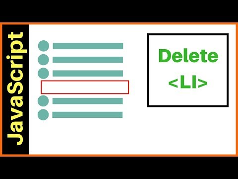 JavaScript - How To Delete Selected LI From UL List In JS [ With Source Code ]