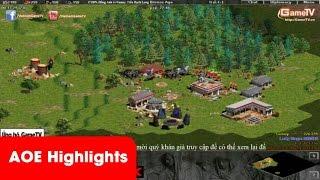AOE Highlights - Tuấn Tiền Tỉ troll GameTV khi đang bình luận cho GameTV