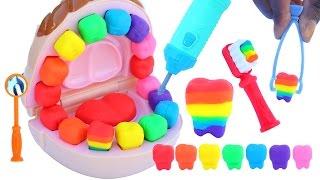 Video DIY How To Make Play Doh Doctor Mighty Toys Rainbow Teeth Play Dough MP3, 3GP, MP4, WEBM, AVI, FLV September 2017