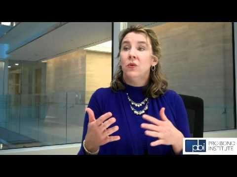 Lisa Dewey discusses DLA Piper's pro bono signature project model - Source: Pro Bono Institute