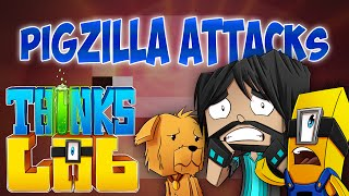 Minecraft Mods: Think's Lab - Kevin Wakes PIGZILLA!