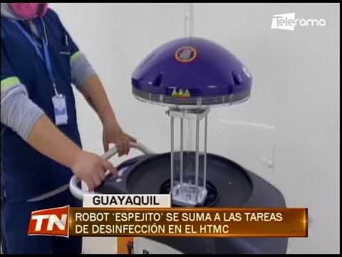 Robot Espejito se suma a las tareas de desinfección en el HTMC