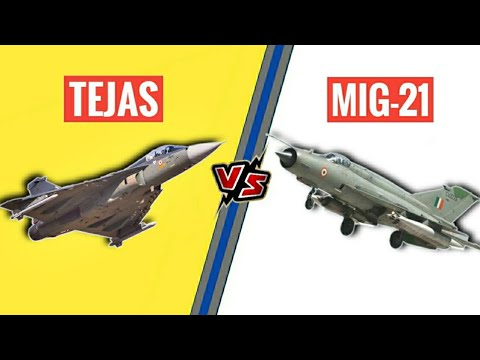 Watch Tejas Vs MiG-21 Fighter Aircraft...