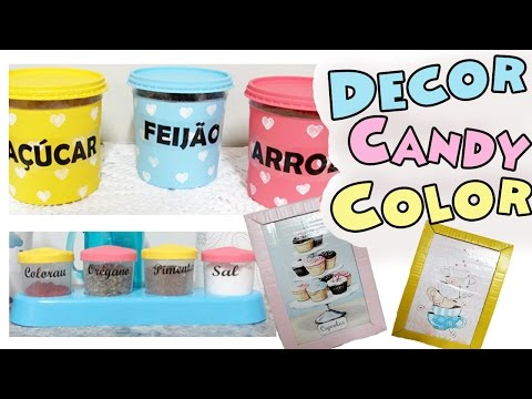 DIY DECOR - 3 IDEIAS DE DECORAÇÃO PARA COZINHA GASTANDO POUCO $   Candy Color