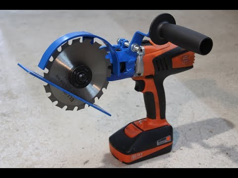 "Sega circolare fai da te ""Drill hack"" (homemade circular saw)"