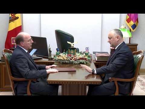 Președintele Republicii Moldova a avut o întrevedere cu Ambasadorul Federației Ruse