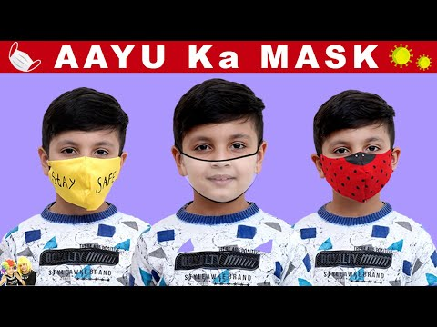 AAYU KA MASK | Make your own mask at home #DIY | Aayu and Pihu Show