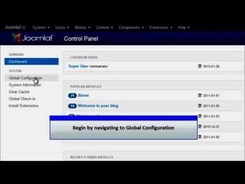 Cấu hình chung joomla 3 - Global Configuration joomla 3