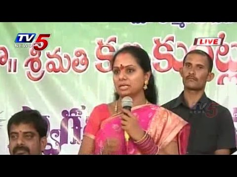 TRS Kavitha Speech from Warangal : TV5 News
