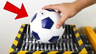 SHREDDING FOOTBALL - Experiment at Home