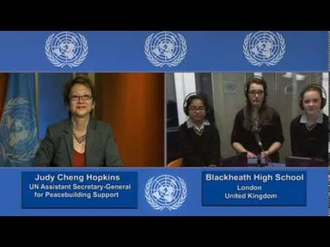 Girls from Blackheath High interview top female officials in pilot project from United Nations  video