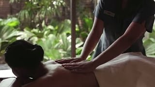 Woman getting a massage Video Thumbnail Image
