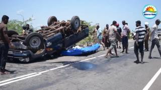 Medawachchiya Sri Lanka  city images : Accident in Mannar - Medawachchiya main road : 19 are injured