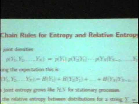 Das Zusammenspiel von Information Theory, Wahrscheinlichkeitsrechnung und Statistik