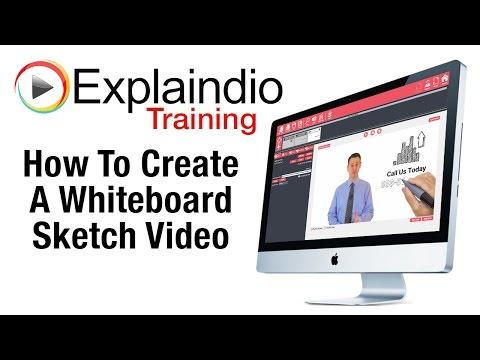 Creating Whiteboard Sketch Videos With Explaindio - Explaindio Training