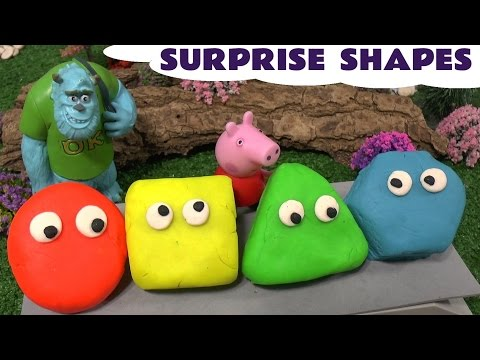 Peppa Pig Play Doh Surprise Disney Toys Thomas & Friends Frozen Learn Shapes Pepa Monsters Inc