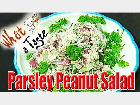 Parsley Peanut Salad Recipe || What A Taste || Vanitha TV 08 February 2016 04 53 PM