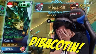 Video PAKE NEW SKIN KARRIE MALAH DI BACOTIN MUSUH :( Mobile Legends Indonesia MP3, 3GP, MP4, WEBM, AVI, FLV Oktober 2017