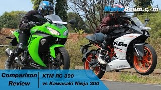 9. KTM RC 390 vs Kawasaki Ninja 300 - Comparison Review | MotorBeam