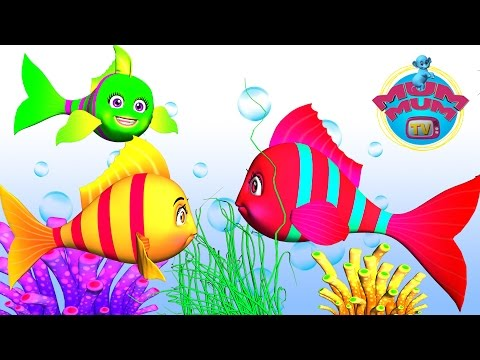 Three Little Fishes Song with Lyrics | Best Nursery Rhymes Video Songs for Kids | Mum Mum TV