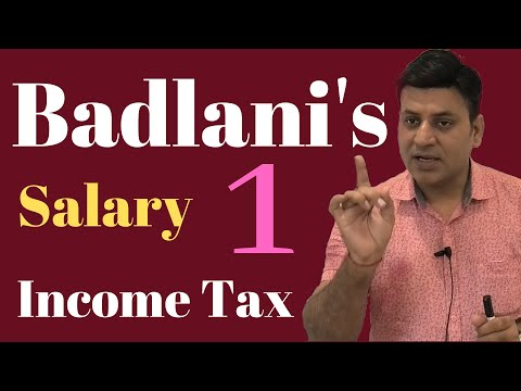 Income Tax: Salary: AY 20-21: Lecture 1: Income from Salary