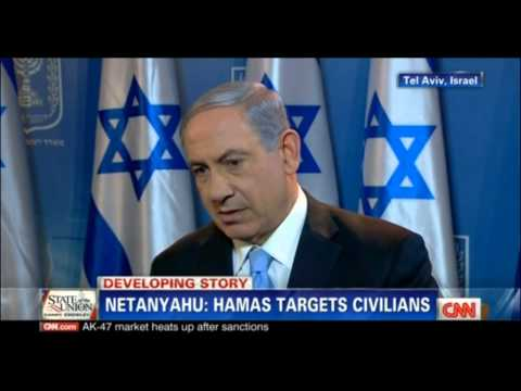 Netanyahu - Prime Minister of Israel in an interview with CNN about the Gaza conflict.