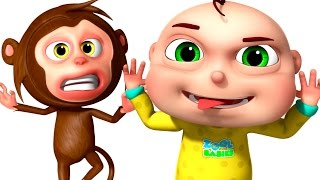 Five Little Babies Playing With Monkeys | Zool Babies Fun Songs | Five Little Babies Collection