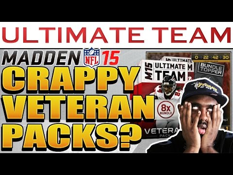 opening - Madden 15 - Madden NFL 15 Ultimate Team Veteran Bundle Packs Opening. I'll be playing Madden Ultimate Team 15 (MUT 15) and Madden 15 Connected Franchise Mode & Madden nfl 15 Gauntlet with this...