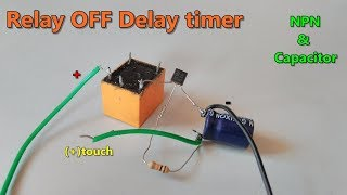 Video Relay OFF Time delay timer by using NPN Transistor and Capacitor MP3, 3GP, MP4, WEBM, AVI, FLV April 2019