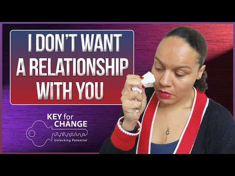 I don't want to be in a relationship with you!