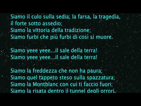 , title : 'Ligabue - Il sale della terra Lyrics full HD'