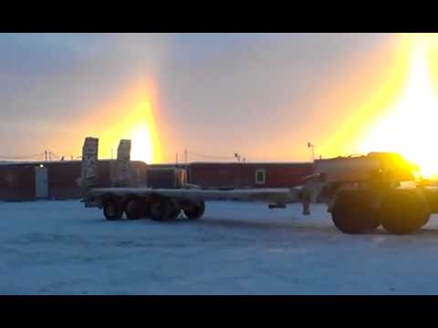 6/11/2015 alba con tre soli nel nord russia - il video e la spiegazione