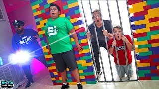 Hide and Seek Cyber Security Cops & Robbers Surprise Giant Lego Box Fort!