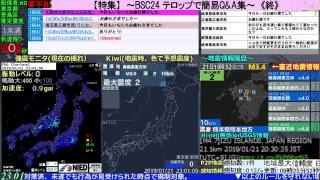 BSC24-第1地震警戒放送24時防災情報共有地震・噴火・異常気象等読み上げあり