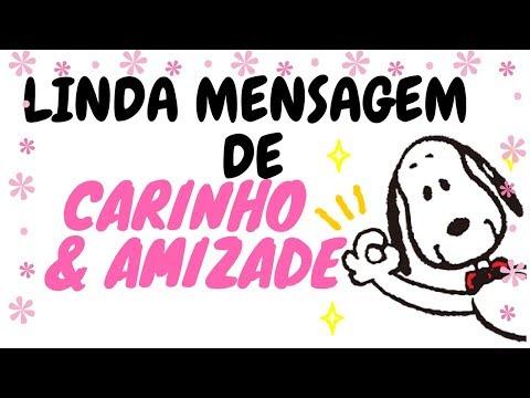 LINDA MENSAGEM DE CARINHO E AMIZADE