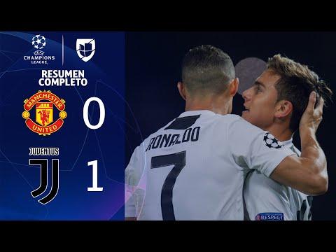 Manchester United 0-1 Juventus - GOLES Y RESUMEN COMPLETO - Grupo G UEFA Champions League
