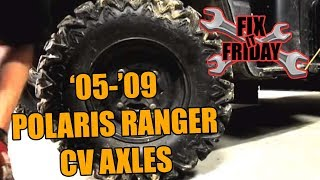 8. 2005-2009 Polaris Ranger CV Axle & Boot Replacement