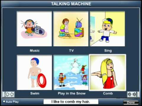 Talking Machine – www.BloomingKids.com special needs software Autism PDD