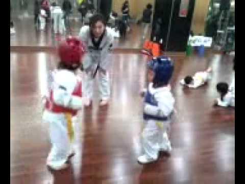 태권도 겨루기 (5살아이들이에요) 5years old kids taekwondo fight