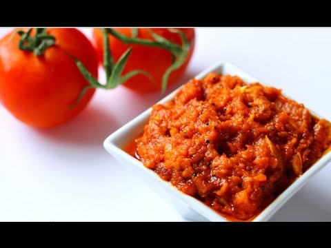 Recipe - Tomato Kismis Chutney (Tomato Raisins Pickle) Recipe With English Subtitles