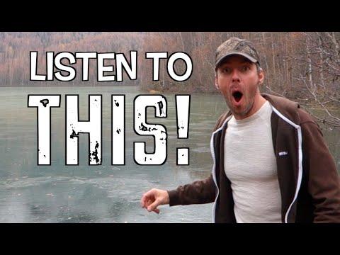 Lanza una roca a un lago congelado y escucha el sonido que hace (03:40)